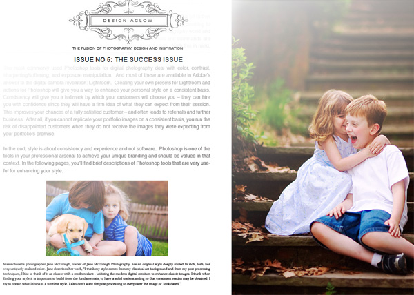 magazine articles design. Design Aglow magazine article