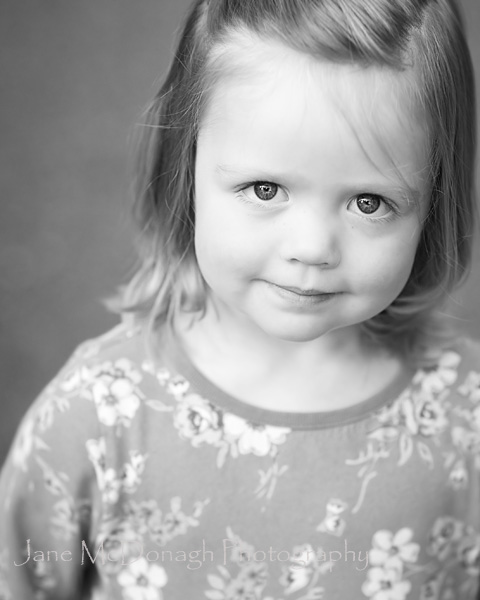 Child portrait photograph