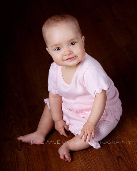 baby studio portrait