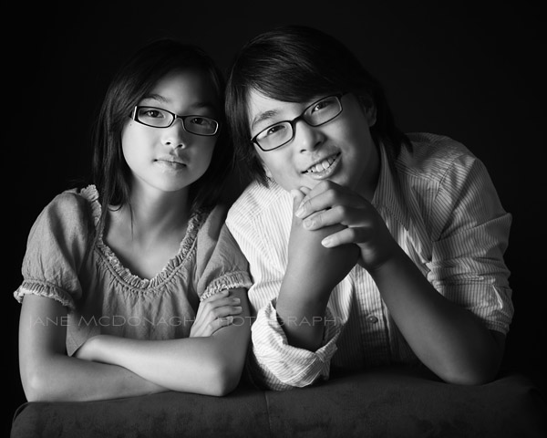 Children's studio portrait