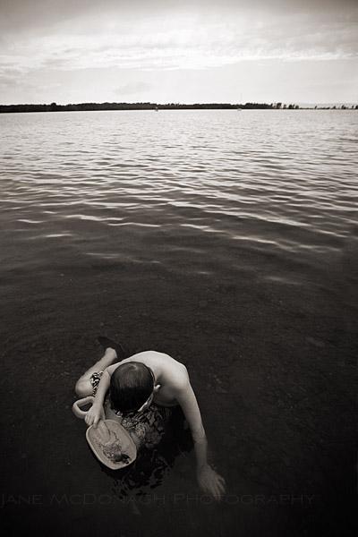 Burlington vermont portrait photo in Lake Champlain