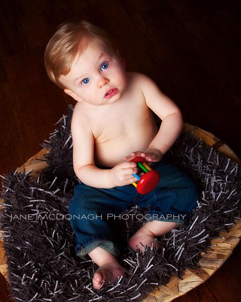 Boston studio photographer baby portrait