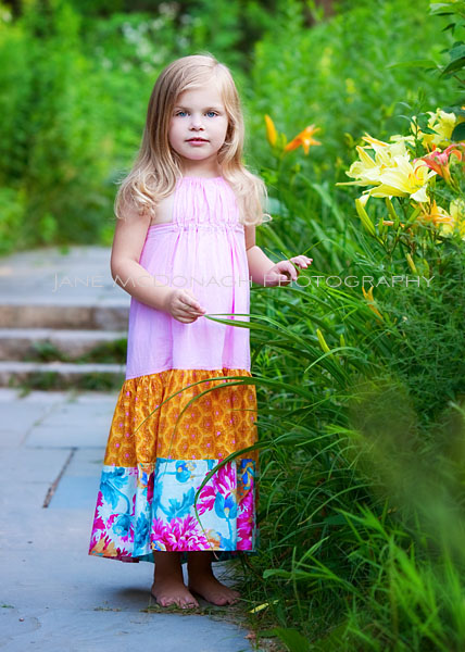 Outdoor portrait of young girl