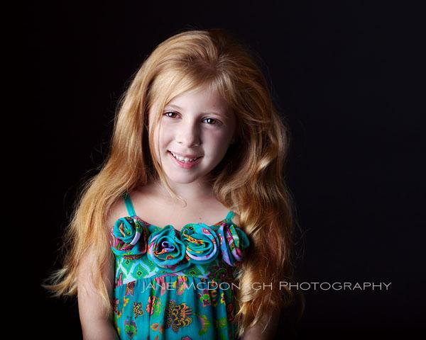 Studio portrait long hair