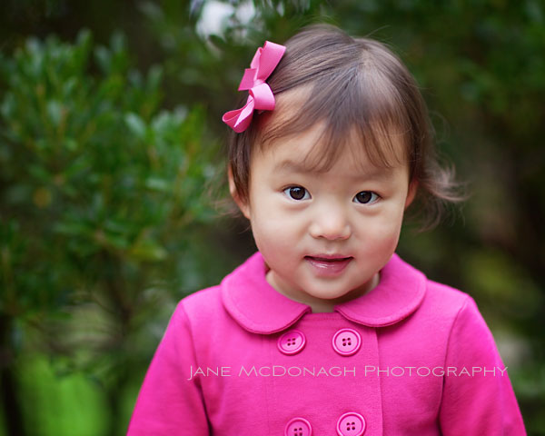 Toddler in pink portrait