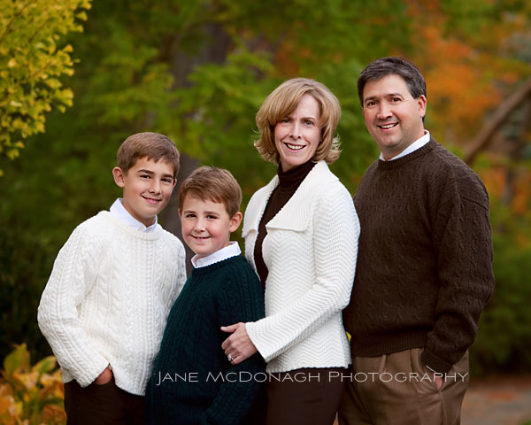 Family fall portrait