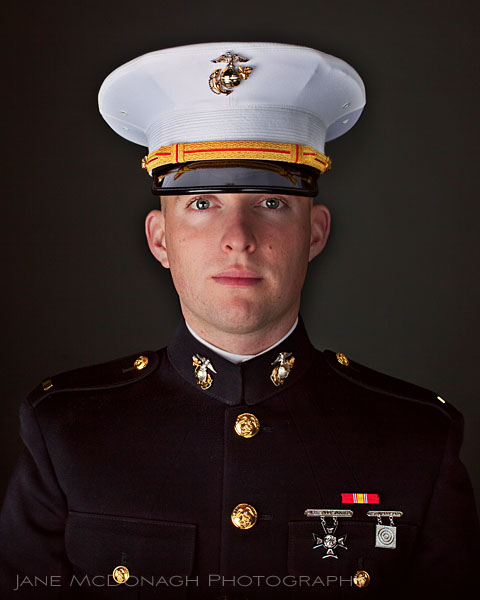 US Marine portrait dress uniform