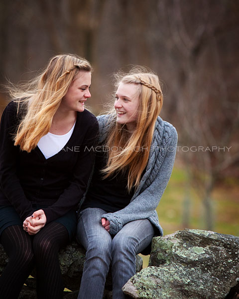Teen sisters portrait