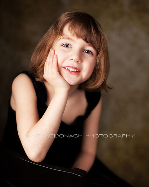 Child studio portrait