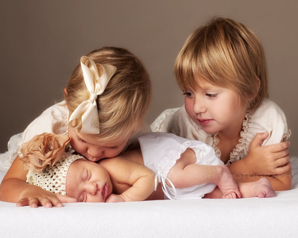 Sisters and baby
