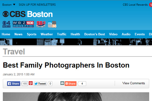 CBS best Boston family photographer