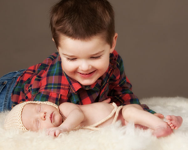 Newborn and brother