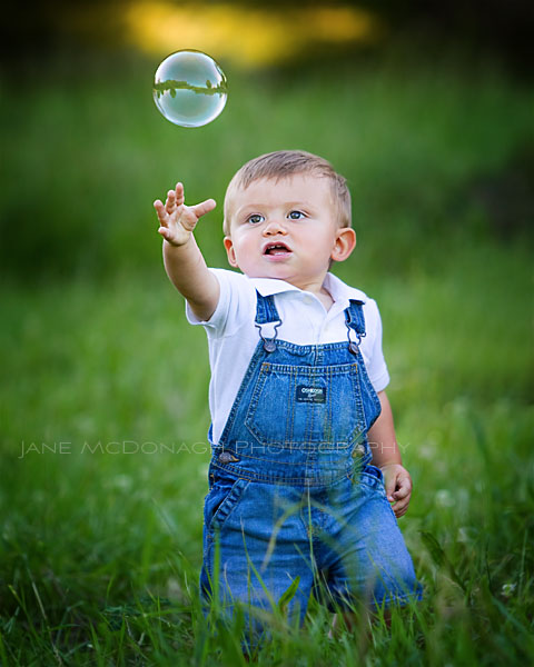 Boy with bubble